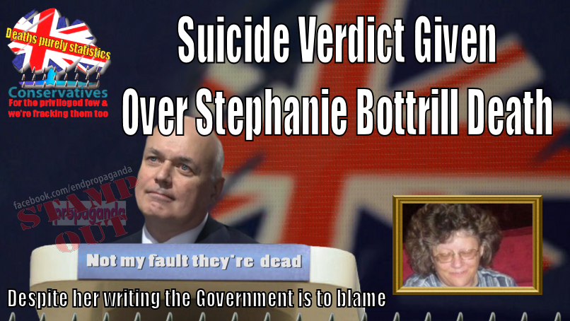 Suicide Verdict Given Over Stephanie Bottrill Death despite her suicide note revealing Government was to blame
